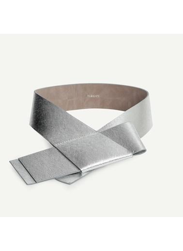 Yargıcı Kadın Metalik Kalın Bel i Kemer 9KKKM7031X Gümüş